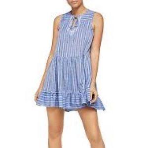 BCBGeneration Blue White Printed Flowy Dress NWT